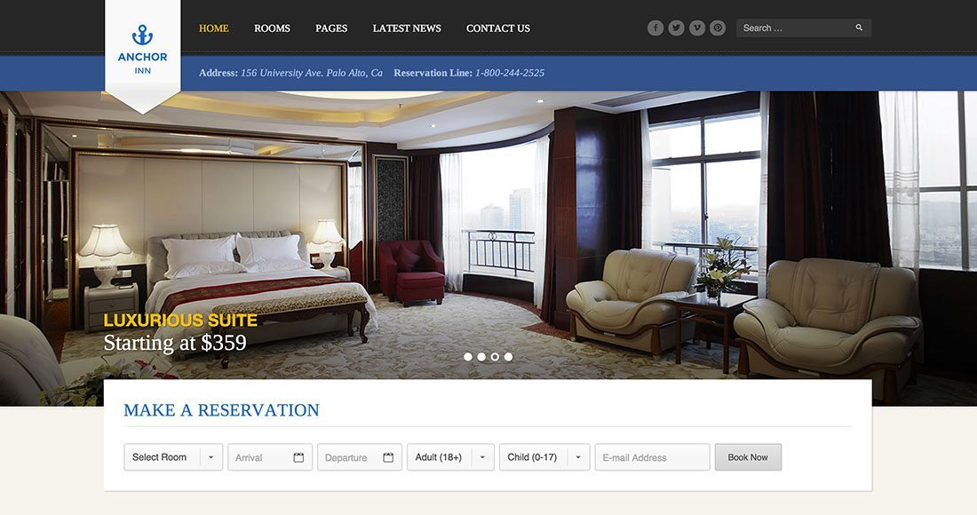 How to build a hotel website using WordPress